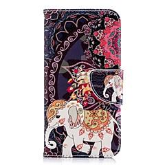 Недорогие Кейсы для iPhone-Кейс для Назначение Apple iPhone X / iPhone 8 Plus Кошелек / Бумажник для карт / со стендом Чехол Слон Твердый Кожа PU для iPhone X / iPhone 8 Pluss / iPhone 8