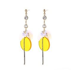 preiswerte Ohrringe-Damen Quaste Tropfen-Ohrringe - Einzigartiges Design, überdimensional, Hippie Gelb Für Abschluss / Party