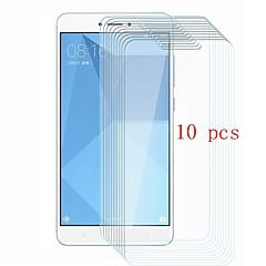 Недорогие Защитные плёнки для экранов Xiaomi-Защитная плёнка для экрана для XIAOMI Xiaomi Redmi Note 4X Закаленное стекло 10 ед. Защитная пленка для экрана Уровень защиты 9H / Защита от царапин