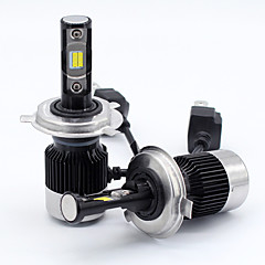 Недорогие Автомобильные фары-SO.K 2pcs 9003 / H10 / H13 Автомобиль Лампы 30 W Интегрированный LED / COB / Высокомощный LED 8000 lm 2 Светодиодная лампа Налобный фонарь Все года