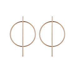 preiswerte Ohrringe-Damen Ohrstecker - Tropfen Einfach, Geometrisch, Einzigartiges Design Gold / Schwarz / Silber Für Party / Abend Karnival Strasse / überdimensional
