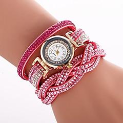 preiswerte Damenuhren-Damen Armband-Uhr Chinesisch Imitation Diamant PU Band Freizeit / Modisch Schwarz / Weiß / Blau / Ein Jahr / SSUO CR2025