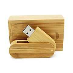 preiswerte USB Speicherkarten-Ants 4GB USB-Stick USB-Festplatte USB 2.0 Holz / Bambus Rotierend