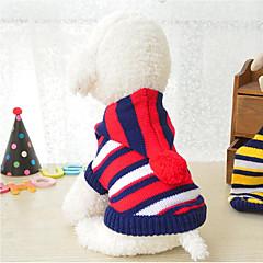 abordables Accesorios y Ropa para Perros-Perros / Gatos Suéteres Ropa para Perro A Rayas / Bloques Raya Fibra de acrílico Disfraz Para mascotas Hombre / Mujer Rayas / Ocasional / deportivo