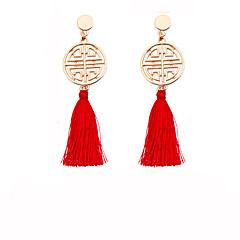 preiswerte Ohrringe-Damen Quaste Tropfen-Ohrringe - Quaste Gelb / Fuchsia / Rot Für Zeremonie / Karnival