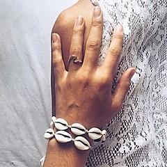 abordables Bijoux pour Femme-Femme Chaîne unique Bracelets de rive - Coquillage Coquillage Elégant, Branché, Doux Bracelet Blanc / Noir Pour Quotidien Vacances