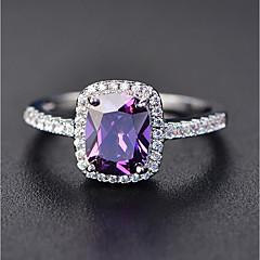 preiswerte Ringe-Damen Kubikzirkonia Solitär Ring - Kupfer, Platiert Luxus 5 / 6 / 7 / 8 / 9 Grün / Blau / Rosa Für Verlobung Geschenk