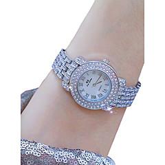 preiswerte Damenuhren-Damen Armbanduhr Chinesisch Kreativ Edelstahl Band Elegant Silber