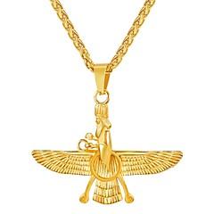 Недорогие Ожерелья-Муж. Длиные Ожерелья с подвесками - Нержавеющая сталь Мода Золотой, Черный, Серебряный 55 cm Ожерелье 1шт Назначение Подарок, Повседневные