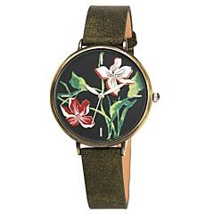お買い得  レディース腕時計-女性用 ドレスウォッチ 日本産 日本産クォーツ ブラウン / ダークグリーン 30 m 耐水 クリエイティブ ハンズ レディース 葉っぱ ヴィンテージ - Brown 青銅色 1年間 電池寿命 / Sony SR626SW