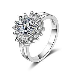 preiswerte Ringe-Damen Kubikzirkonia 3D Bandring - Modisch 5 / 6 / 7 Silber Für Geschenk / Party