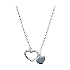 preiswerte Halsketten-Damen Anhängerketten - 18K vergoldet, S925 Sterling Silber Herz Zierlich, Einfach Silber 40 cm Modische Halsketten Schmuck Für Alltag