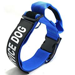 お買い得  犬用首輪/リード/ハーネス-犬用 カラー 携帯用 / サイズが調整できます。 / 折りたたみ式 メッセージ ナイロン ブラック / レッド / ブルー