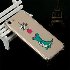 Недорогие Кейсы для iPhone 7-Кейс для Назначение Apple iPhone X / iPhone 8 Защита от удара / Прозрачный / Полупрозрачный Кейс на заднюю панель Животное Мягкий ТПУ для iPhone X / iPhone 8 Pluss / iPhone 8