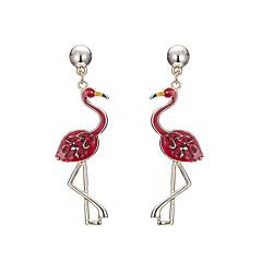 preiswerte Ohrringe-Damen Stilvoll Tropfen-Ohrringe - Flamingo Schwarz / Rot / Rosa Für Party / Abend / Alltag