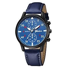 preiswerte Damenuhren-Geneva Damen Armbanduhr Chinesisch Neues Design / Armbanduhren für den Alltag / Cool Leder Band Freizeit / Modisch Schwarz / Braun / Marinenblau