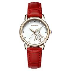 お買い得  レディース腕時計-SANDA 女性用 ドレスウォッチ リストウォッチ 日本産 クォーツ ブラック / 白 / レッド 30 m 耐水 カレンダー 新デザイン ハンズ レディース カジュアル ファッション - ブラック Brown レッド / 模造ダイヤモンド