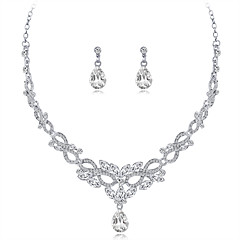 cheap Jewelry Sets-Women's Tassel Long Jewelry Set - Rhinestone, Silver Plated Ladies, Unique Design, Tassel Include Drop Earrings Statement Necklace Silver For Wedding Evening Party Masquerade Engagement Party Prom