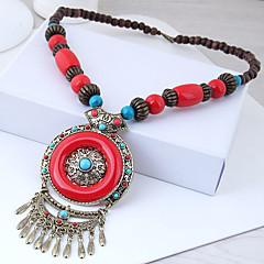 preiswerte Halsketten-Damen Vintage Stil Stilvoll Lange Halskette - Harz Europäisch, Ethnisch, Boho Rot, Blau 55 cm Modische Halsketten Schmuck 1pc Für Normal, Alltag