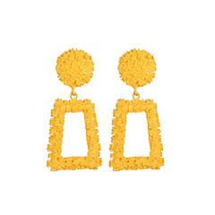 お買い得  イヤリング-女性用 ドロップイヤリング  -  創造的 幾何学図形, 誇張, 特大の シルバー / イエロー / レッド 用途 パーティー ストリート バー