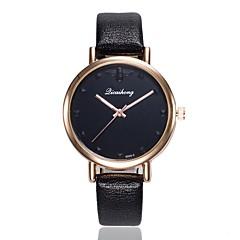 preiswerte Damenuhren-Damen Kleideruhr / Armbanduhr Chinesisch Neues Design / Armbanduhren für den Alltag PU Band Freizeit / Modisch Schwarz / Weiß / Blau