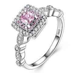 preiswerte Ringe-Damen Stilvoll Ring - Platiert Romantisch, Modisch 5 / 6 / 7 Rosa Für Hochzeit / Geschenk