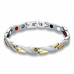 お買い得  ブレスレット-男性用 太い鎖 ホログラムブレスレット  -  チタン鋼 創造的 クラシック ブレスレット シルバー 用途 日常