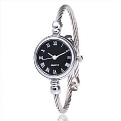 preiswerte Damenuhren-Damen Armband-Uhr Armbanduhr Quartz Schwarz / Silber / Gold Armbanduhren für den Alltag Analog damas Modisch Minimalistisch - Silbrig / White Gold / Weiß Schwarz / Silber