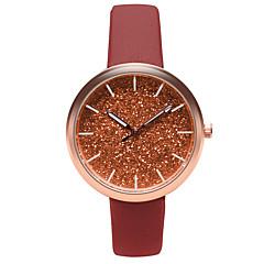 preiswerte Damenuhren-Damen Armbanduhr Quartz Armbanduhren für den Alltag Leder Band Analog Freizeit Modisch Schwarz / Blau / Braun - Braun Blau Rosa
