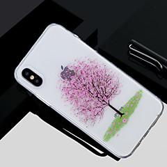 お買い得  iPhone 5S/SE ケース-ケース 用途 Apple iPhone X / iPhone 8 クリア / パターン バックカバー 木 ソフト TPU のために iPhone X / iPhone 8 Plus / iPhone 8