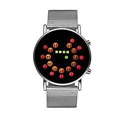 お買い得  メンズ腕時計-男性用 女性用 リストウォッチ デジタル 30 m クロノグラフ付き 光る クール ステンレス バンド デジタル 多色 シルバー - ダークブルー レッド 1年間 電池寿命 / 大きめ文字盤 / SSUO LR626