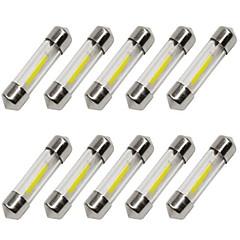 お買い得  カーアクセサリー-10個 36mm 車載 電球 1 W COB 80 lm 1 LED ウィンカー / インテリアライト 用途 ユニバーサル
