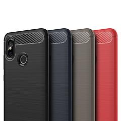 Недорогие Чехлы и кейсы для Xiaomi-Кейс для Назначение Xiaomi Mi 8 Матовое Кейс на заднюю панель Однотонный Мягкий ТПУ для Xiaomi Mi 8