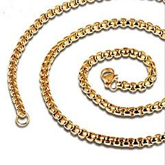 Недорогие Ожерелья-Муж. Стильные Цепочка - Титановая сталь Креатив Мода Cool Золотой, Черный 60 cm Ожерелье Бижутерия 1шт Назначение Повседневные
