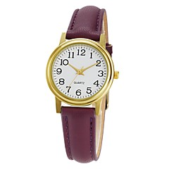 お買い得  レディース腕時計-女性用 ドレスウォッチ 日本産 日本産クォーツ 30 m カジュアルウォッチ PU バンド ハンズ カジュアル ファッション ブラック / 白 / レッド - グリーン ピンク クリスタル 1年間 電池寿命 / Sony SR626SW