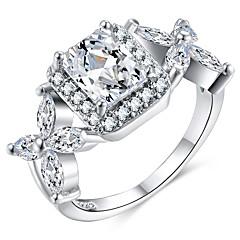 preiswerte Ringe-Damen Stilvoll Statement-Ring / Ring - Platiert, Diamantimitate Kreativ Stilvoll, überdimensional 6 / 7 / 8 Silber Für Hochzeit / Party