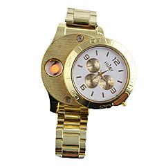 abordables Relojes con Correa de Acero-Hombre Reloj de Pulsera Japonés Cronógrafo / Creativo / Nuevo diseño Acero Inoxidable Banda Brazalete / Moda Dorado