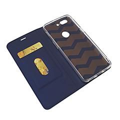 お買い得  その他のケース-ケース 用途 OnePlus 5 / OnePlus 5T カードホルダー / スタンド付き / フリップ フルボディーケース ソリッド ハード PUレザー のために OnePlus 6 / One Plus 5 / OnePlus 5T