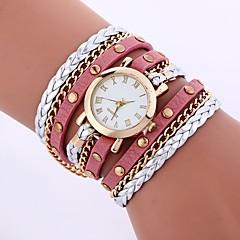 preiswerte Damenuhren-Damen Armband-Uhr Chinesisch Armbanduhren für den Alltag PU Band Freizeit / Modisch Weiß / Blau / Rot