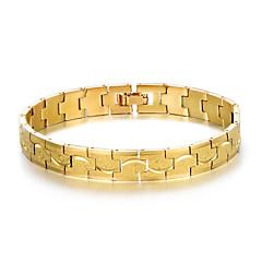 preiswerte Armbänder-Herrn Stilvoll Armband / Nugget-Gliederarmband - Kreativ Modisch, Beiläufig / sportlich Armbänder Gold / Silber Für Geburtstag / Geschenk