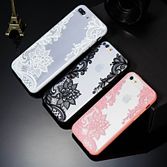 abordables Fundas para iPhone 6 Plus-Funda Para Apple iPhone X / iPhone 8 Plus Diseños Funda Trasera Impresión de encaje Dura ordenador personal para iPhone X / iPhone 8 Plus / iPhone 8