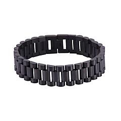 preiswerte Armbänder-Herrn Dicke Kette Armband - Edelstahl Gewebe Modisch Armbänder Gold / Schwarz / Silber Für Geschenk / Alltag