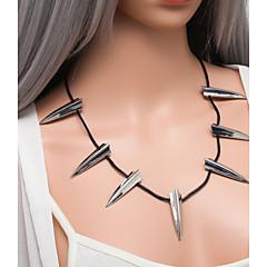 preiswerte Halsketten-Damen Hohl Übergang Kragen - Erklärung, Anhänger Stil, Anime Cool Gold, Silber 60 cm Modische Halsketten Schmuck 1pc Für Strasse, Klub
