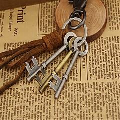 preiswerte Schlüsselanhänger-Schlüsselanhänger Braun Ton Leder, Aleación Freizeit, Modisch Für Verabredung / Strasse