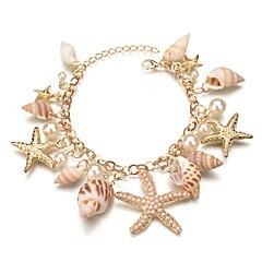preiswerte Armbänder-Damen Stilvoll Bettelarmbänder - Hülle Seestern, Hülle Böhmische Armbänder Gold Für Geschenk