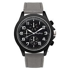 preiswerte Herrenuhren-Herrn Armbanduhr Quartz Armbanduhren für den Alltag PU Band Analog Modisch Schwarz / Braun / Grau - Schwarz Grau Braun