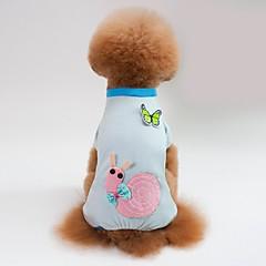 お買い得  犬用ウェア&アクセサリー-犬用 / 猫用 パジャマ 犬用ウェア 幾何学模様 / 動物 / カートゥン ブルー / ピンク コットン コスチューム ペット用 女性 スウィート / カジュアル/普段着