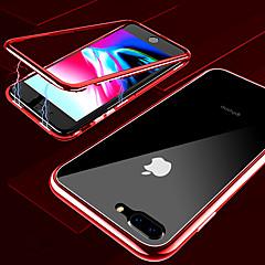 Недорогие Кейсы для iPhone 7 Plus-Кейс для Назначение Apple iPhone X / iPhone XS Max Прозрачный Чехол Однотонный Твердый Закаленное стекло / Металл для iPhone XS / iPhone XR / iPhone XS Max