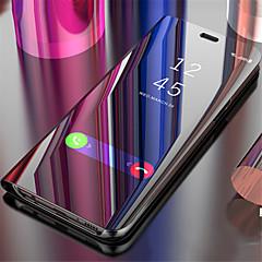 Недорогие Кейсы для iPhone X-CaseMe Кейс для Назначение Apple iPhone X Зеркальная поверхность / Флип / Авто Режим сна / Пробуждение Чехол Однотонный Твердый ПК для iPhone X / iPhone 8 Pluss / iPhone 8