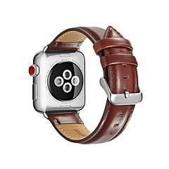 preiswerte Herrenuhren-Kalbshaut Uhrenarmband Gurt für Apple Watch Series 3 / 2 / 1 Schwarz / Rot / Braun 23cm / 9 Zoll 2.1cm / 0.83 Inch
